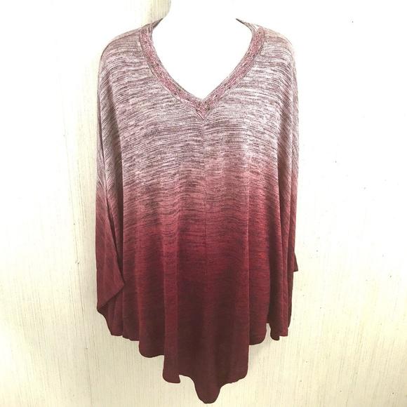01b5c6c8fdb One World Poncho Style Sweater Plus Size 1X